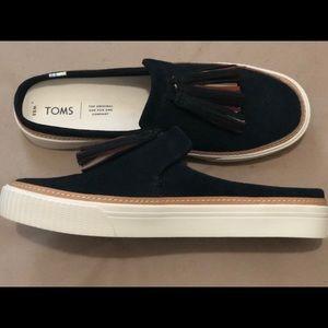 Tom's Sunrise Tassel suede slip-on shoes (women's)